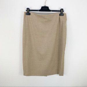 Escada Tan Wool Cashmere Blend Skirt